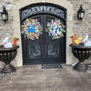 🐰💐See how the rabbit broke into your home! Easter bunny wreath🐰💐
