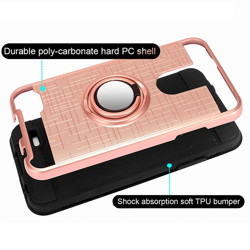 For Coolpad Legacy Case , 360 Degree Rotating Ring Holder Kickstand Scratch Resistant Drop Protective Case for Coolpad Legacy (2019 Version)