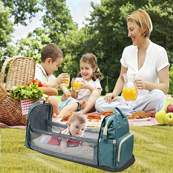 【Three-day discount】Moses ™2020🔥2 -In-1 Multifunctional Travel Mommy Bag & Crib 🔥