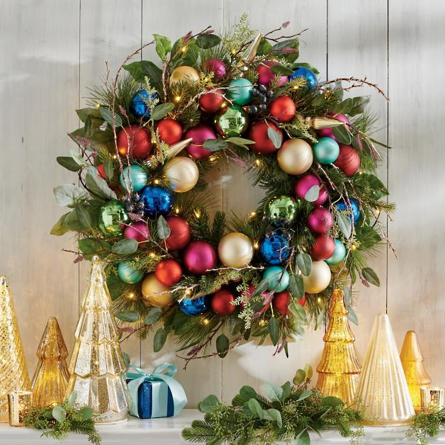 All Is Bright Cordless Wreath