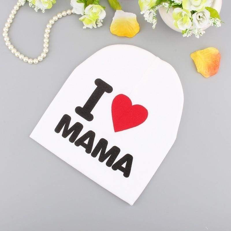 Cute Hat I lOVE MAMA PAPA Kids Baby Boy Girl Infant Cotton Beanie Cap Hats Family Day Clothes