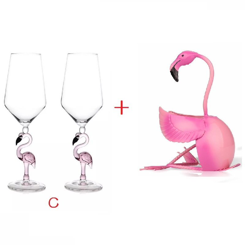 【🍷Limited Stock 🍷】Creative Flamingo Wine Glasses Durable Goblet Set (2pcs )