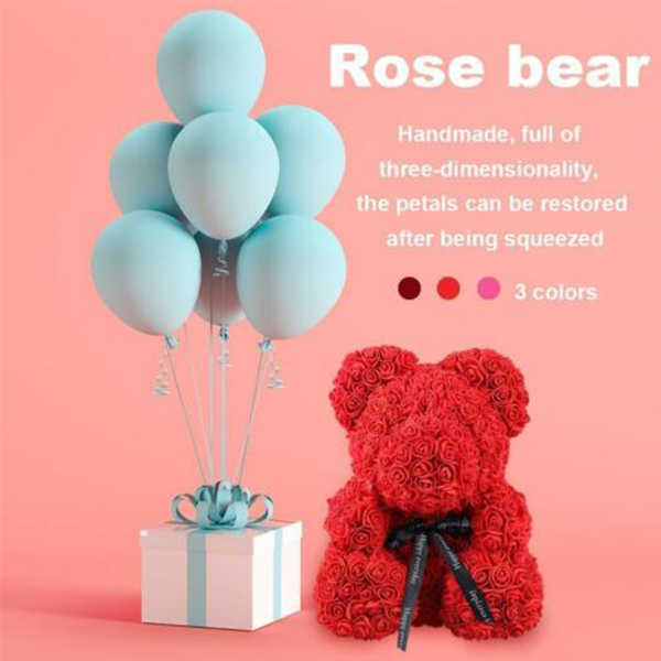 Holiday Promotion--THE LUXURY ROSE TEDDY BEAR