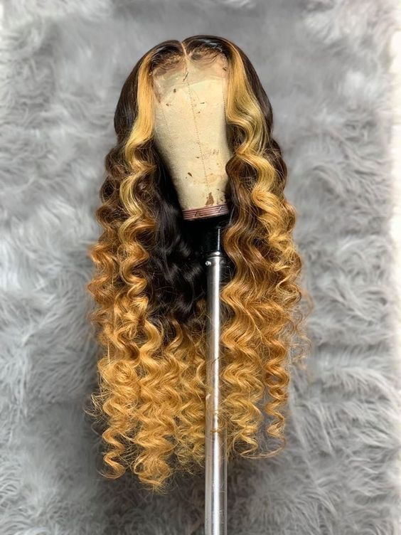 Ash Blonde Wigs For Women Honey Blonde Wigs With Black Roots Yellow Hair Wig Blonde Anime Wig Blonde Remy Hair Cheap 613 Lace Front Wig Lace Frontal Wigs Free Shipping 715