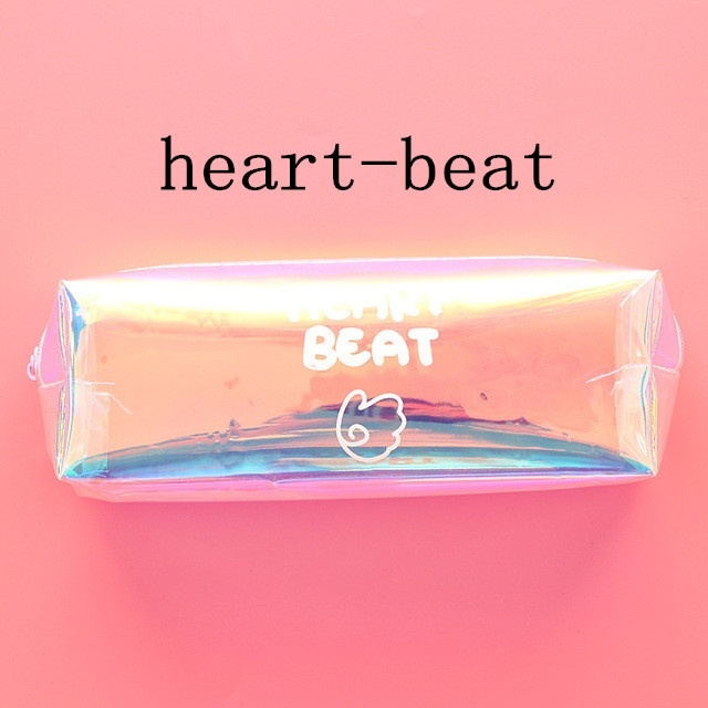 Cute Pencil Case Creative Laser Pen Case Kawaii Transparent Pencil Pouch For Girls Gifts Back To School Office Supplies