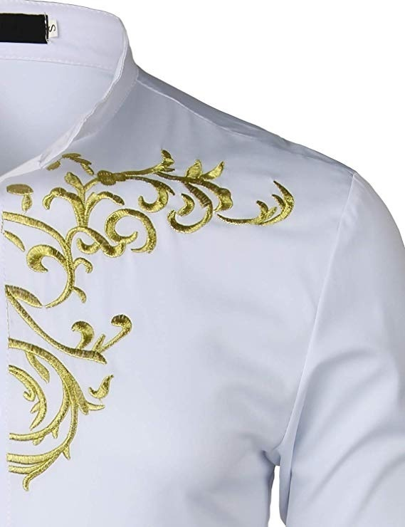 Fashion Embroidered Shirt American West Style Shirt Western Denim Embroidery Lining