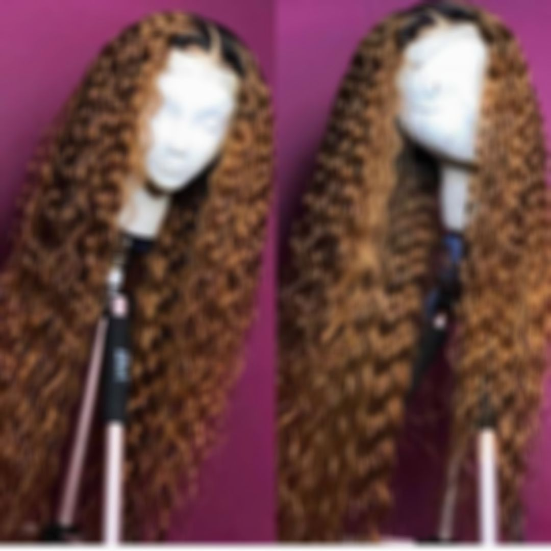 2021 Curly Wigs Lace Front Indian Water Wave Bundles Kaneki Wig Quality Human Hair