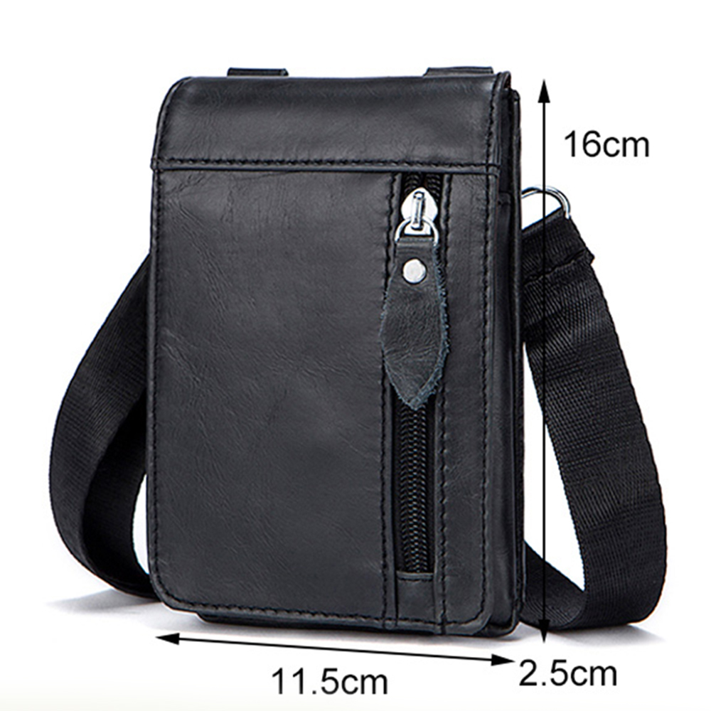 MVA Genuine Leather Waist Belt Bag