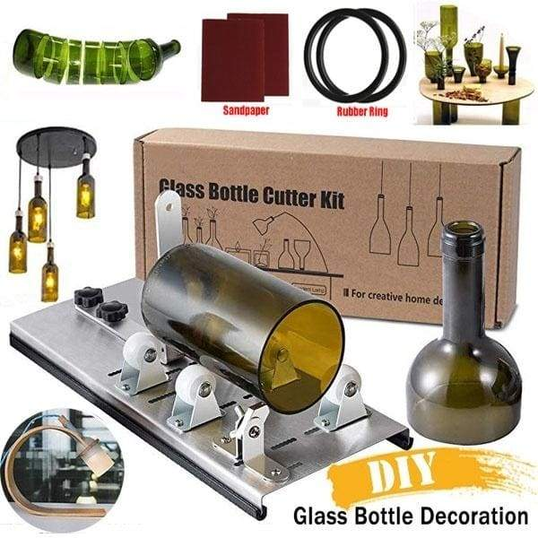 Beer Wine Jar Accurate Cutting Machine 2-11mm DIY Recycle Cutting Tool Kit Glass Bottle Cutter Stainless Steel Smoothly Cutting