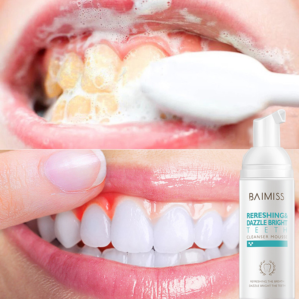 Mousse foam whitening toothpaste