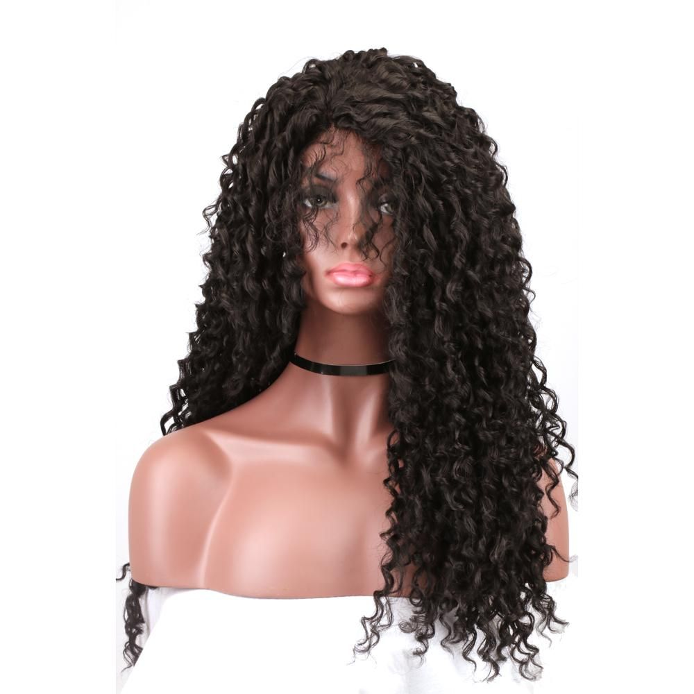 Black Wigs For Black Women Loose Deep Wave Wig Kyller Wig Nature Afro Hairpiece Blow Dry Permanent