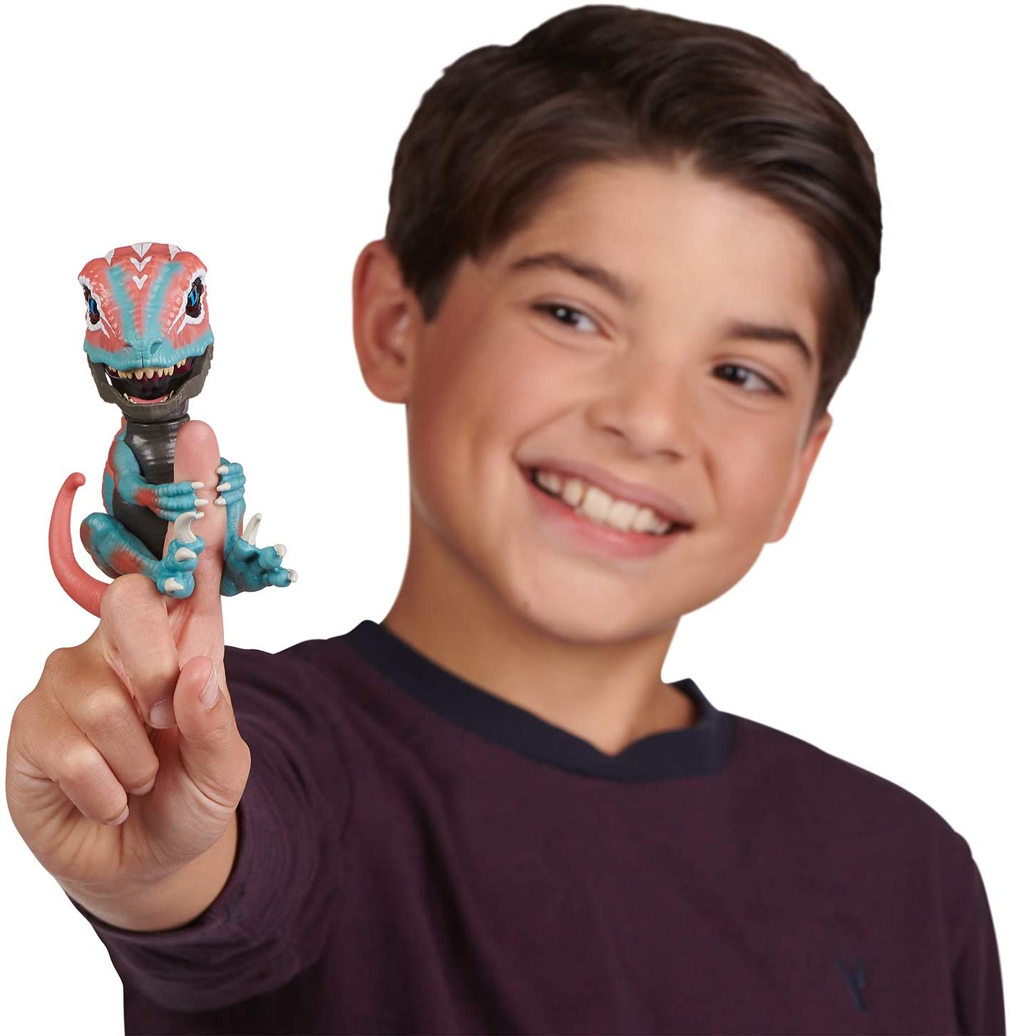 Taming Raptor Finger Toys-Series 2-Mutant (Red and Blue)-Interactive Collectible Dinosaur Toy