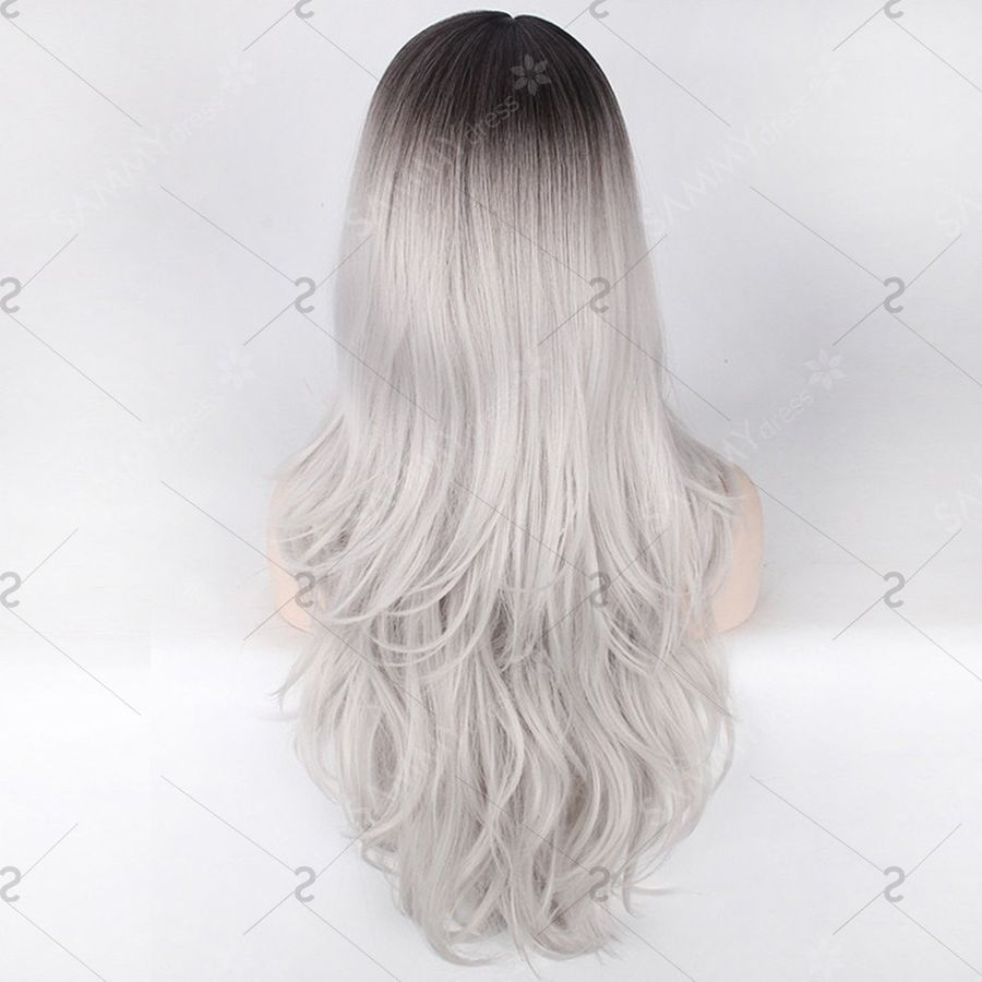 2020 New Gray Hair Wigs For African American Women Lace Weave Middle Part Frontal Enhancing Grey Hair Kenzie Wig Boris Johnson Wig