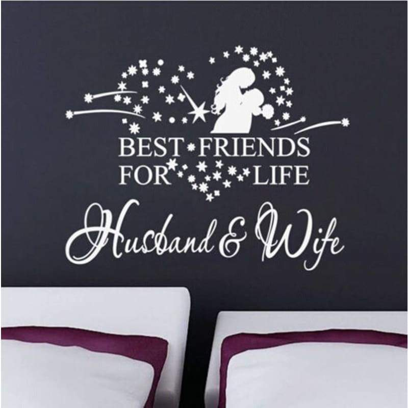 Heart Best Friends for Life Husband&Wife Wall Decal Quote Art Sticker Decor UKWS