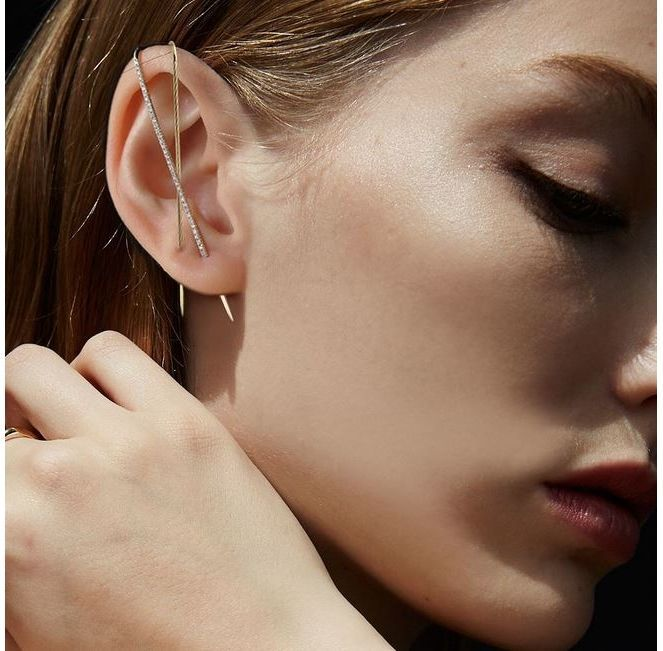 Auricle piercing around the auricle auricle bone clip ornaments plated with real gold ear hanging