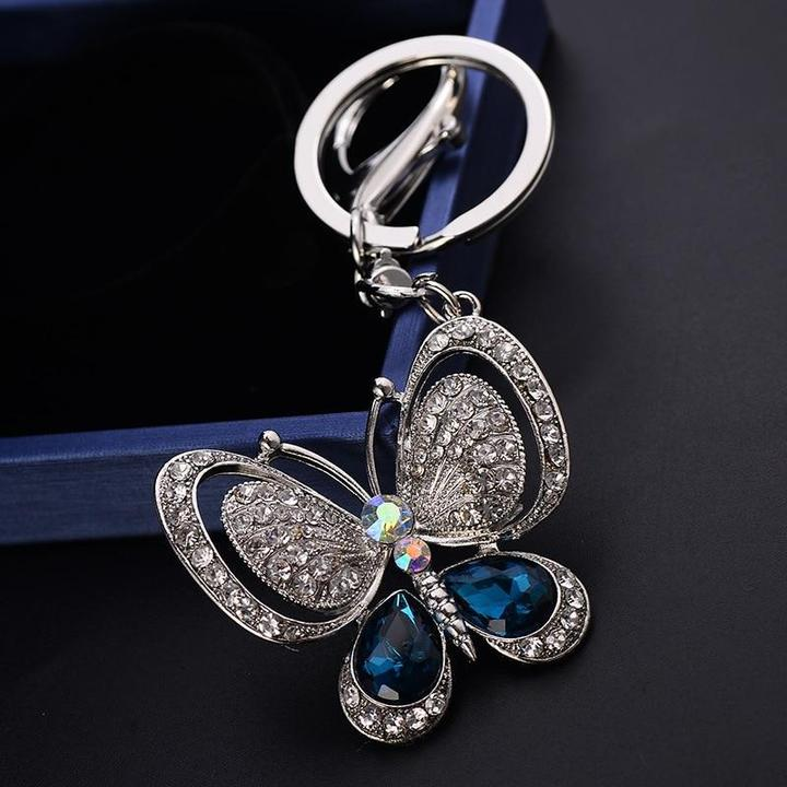Lovely Crystal Butterfly Keychain
