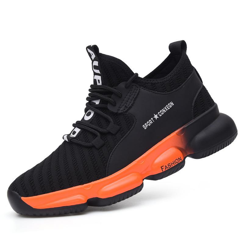 Comfortable men/woman safety shoes air mesh shoes running air mesh shoes running (CSA certification)