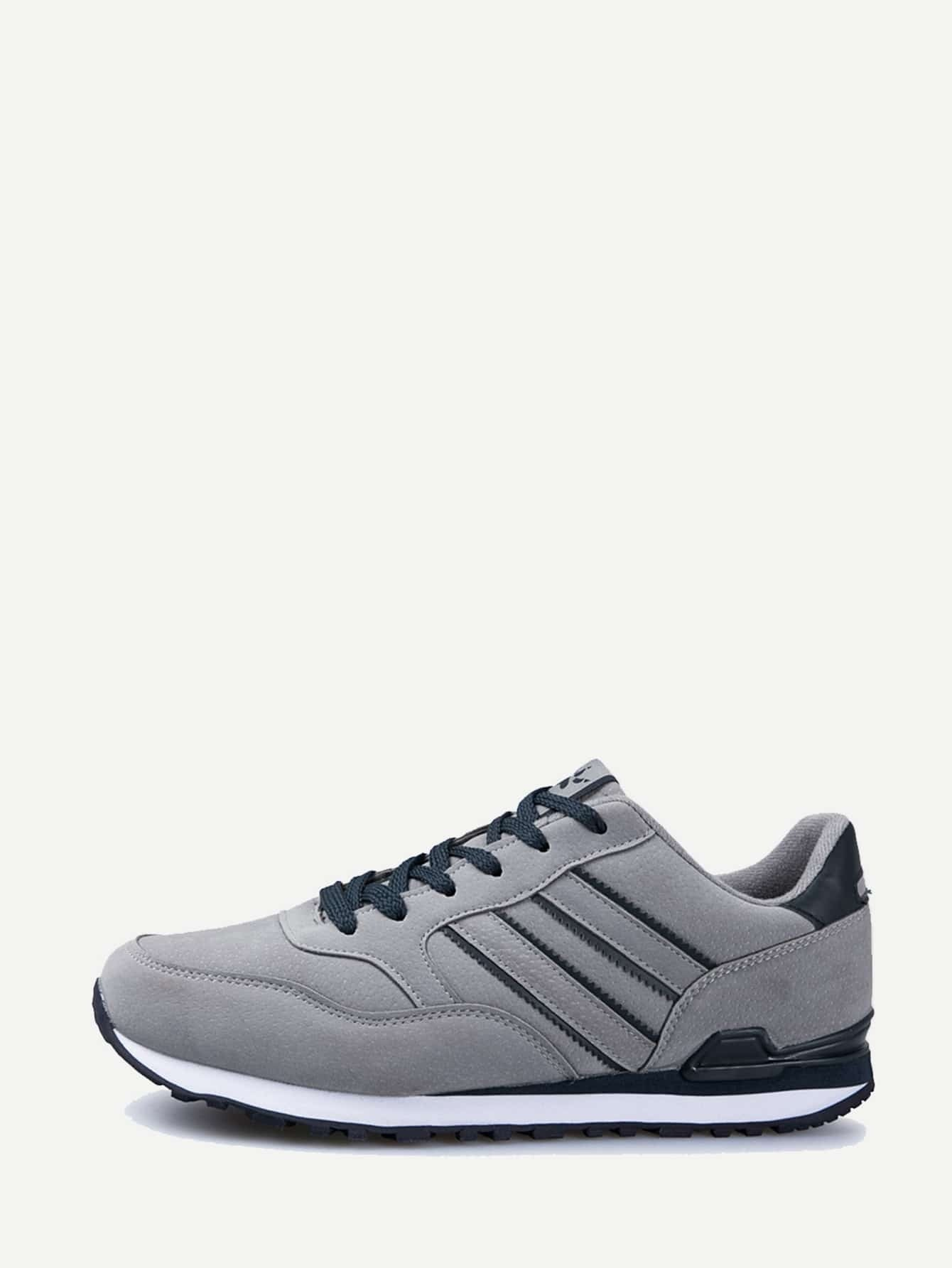 Men Lace Up Suede Sneakers