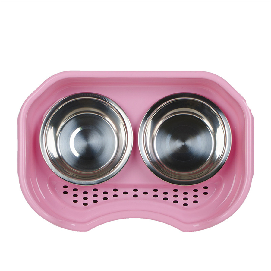 Elevated Dog and Cat Food & Water Bowls, Stainless Steel & Resin Fiber