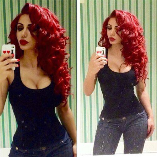 Lace Frontal Wigs Red Hair Yellow Curly Wig Blue Lolita Wig Burgundy Wig Hairstyles 2019 Women Free Shipping