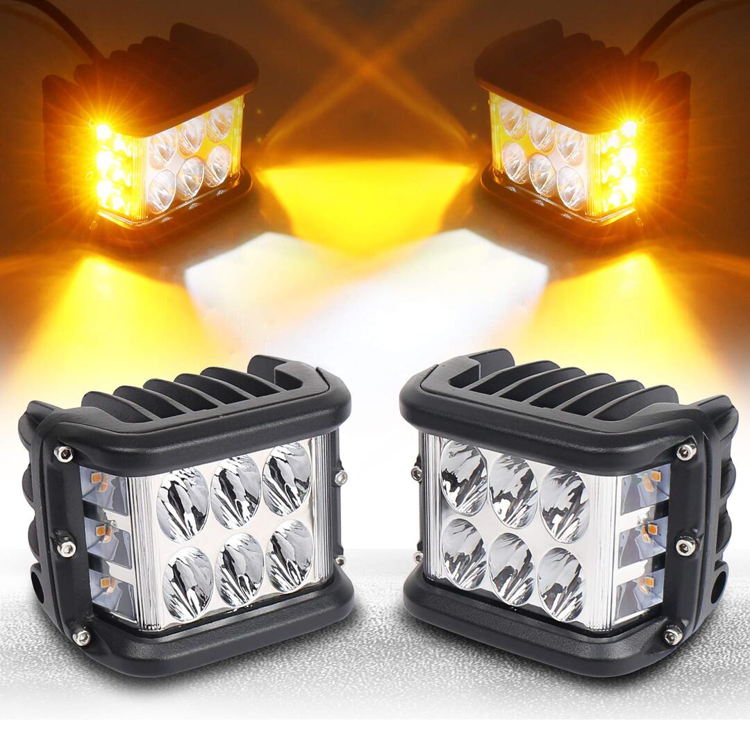 3.75'' Dual Side Shooter Dual Color Strobe Cree Pods for Truck ATV Boat
