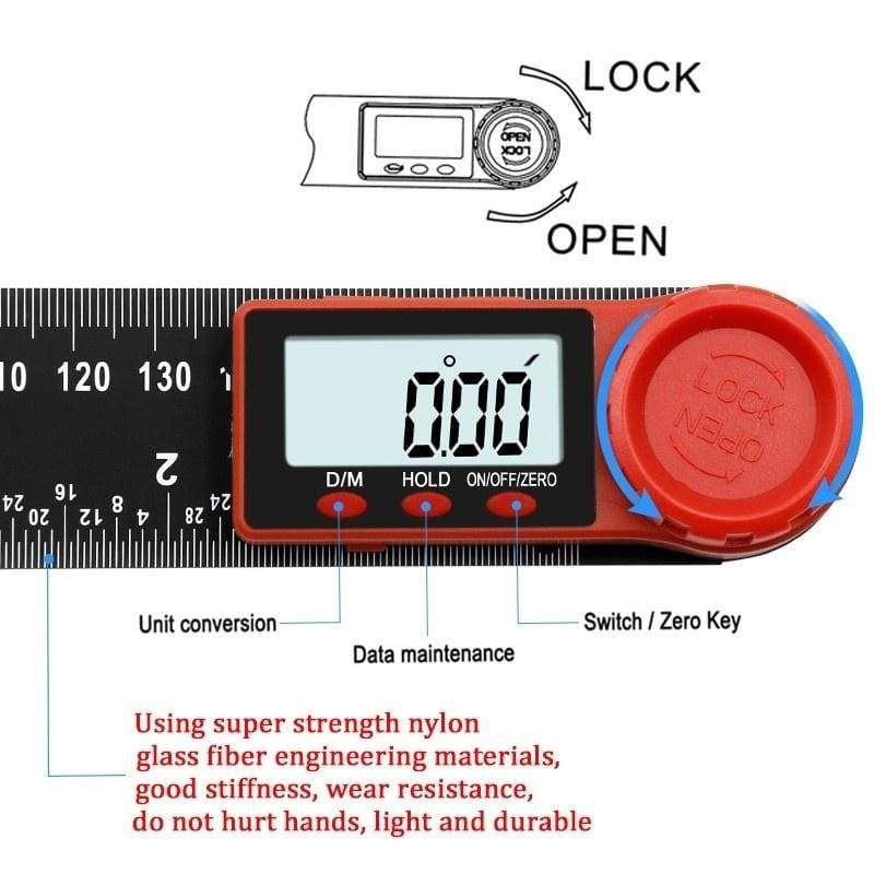 100/200/300mm Digital Ddisplay Instrument Inclinometer Angle Digital Electronic Scale Goniometer Protractor Angle Detector