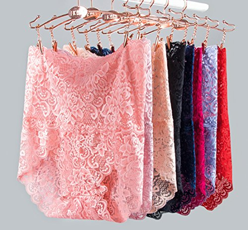 Women's Sexy Lace Lingerie High Waist Belly Briefs- Buy 6 free shipping