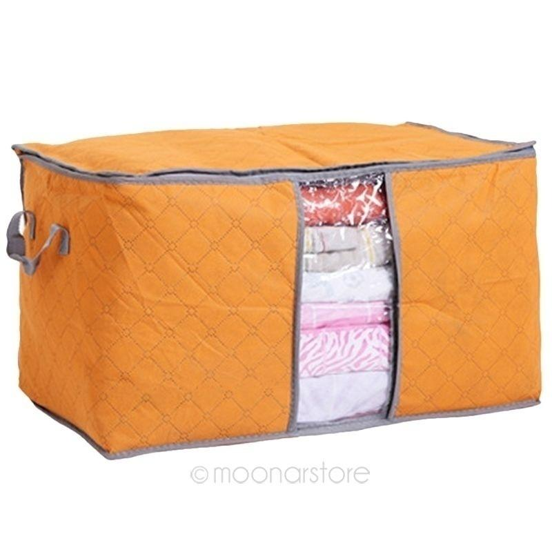 New Foldable Compact Clothing Quilt Storage Bag Case Blanket Closet Sweater Organizer Box Useful