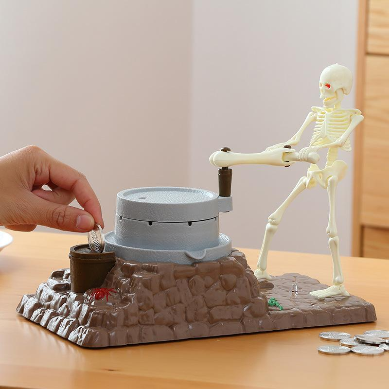 New Grinding Skeleton Coin Box (Buy 2 Get 10%OFF & Free shipping)