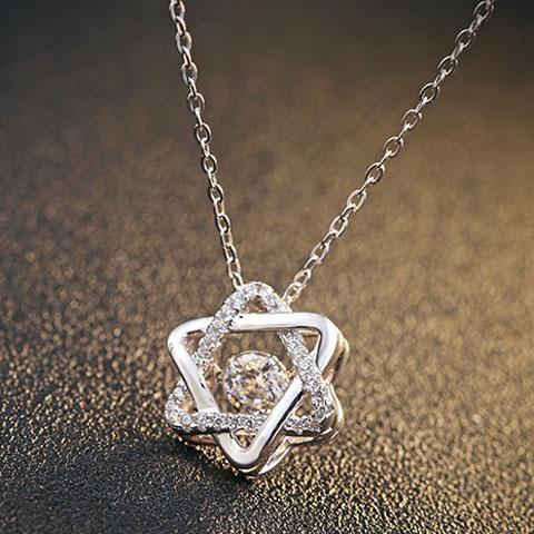 Twinkling Heart Star Necklace--Let her see your