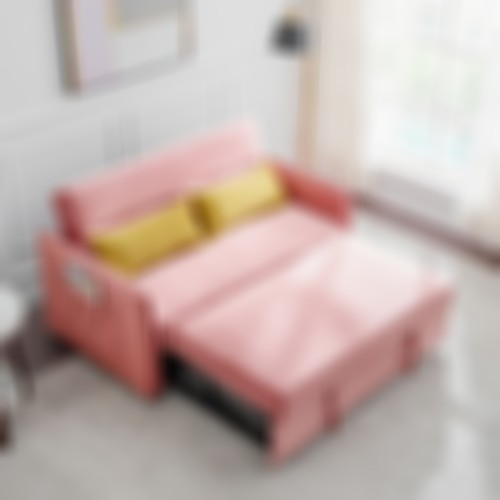 Compact Soft Velvet Sofa Bed pull-out sleeper