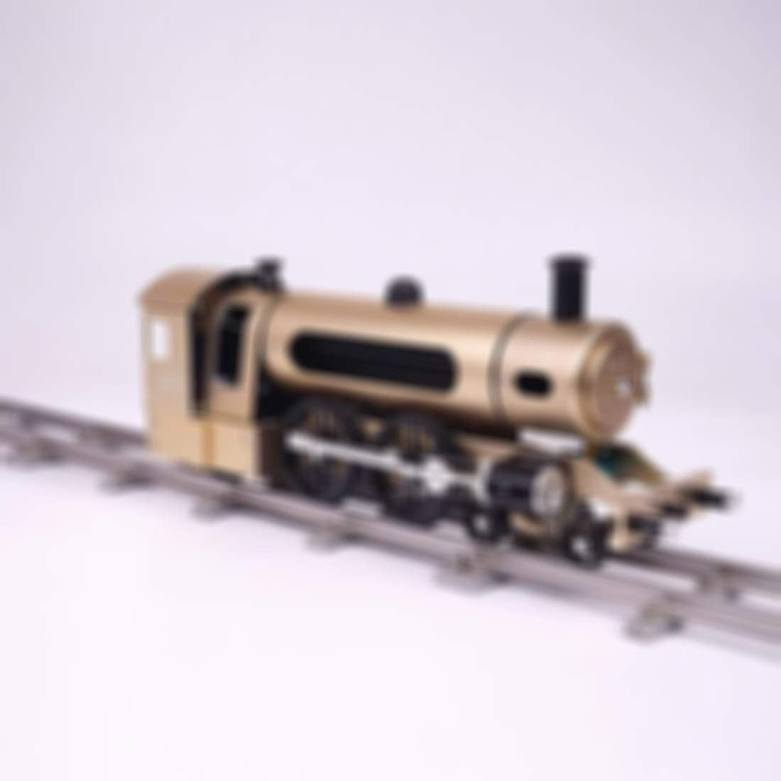 Steam Train Model With Pathway Full Aluminum Alloy Model