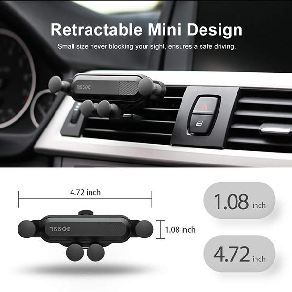 【Hot Sale,50% OFF TODAY】Mini Gravity Car phone Holder