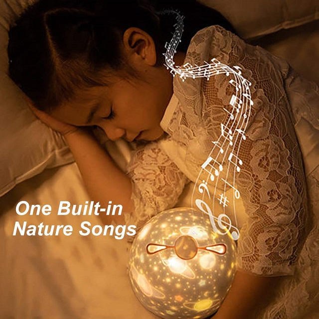 (BUY 2 FREE SHIPPING & BUY MORE SAVE MORE)rojector Night Light with Music Box and 6 Projection Films