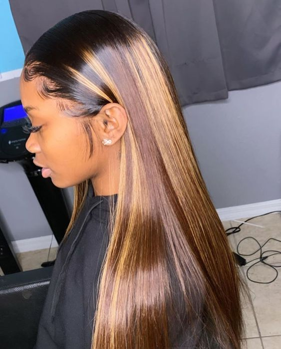 Lace Front Wigs Brown Wigs Blonde Wigs White Blonde Tape In Hair Extensions Blonde With Purple Highlights Wigs For Black Women