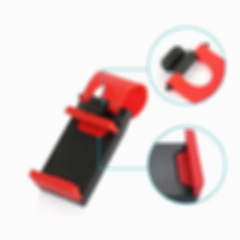 Elastic Steering Wheel Buckle Clip Car Cell Phone Holder for iPhone/Samsung/LG