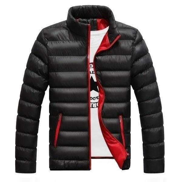 Fashion men's autumn and winter warm zipper jacket cotton padded coat warm cotton coat