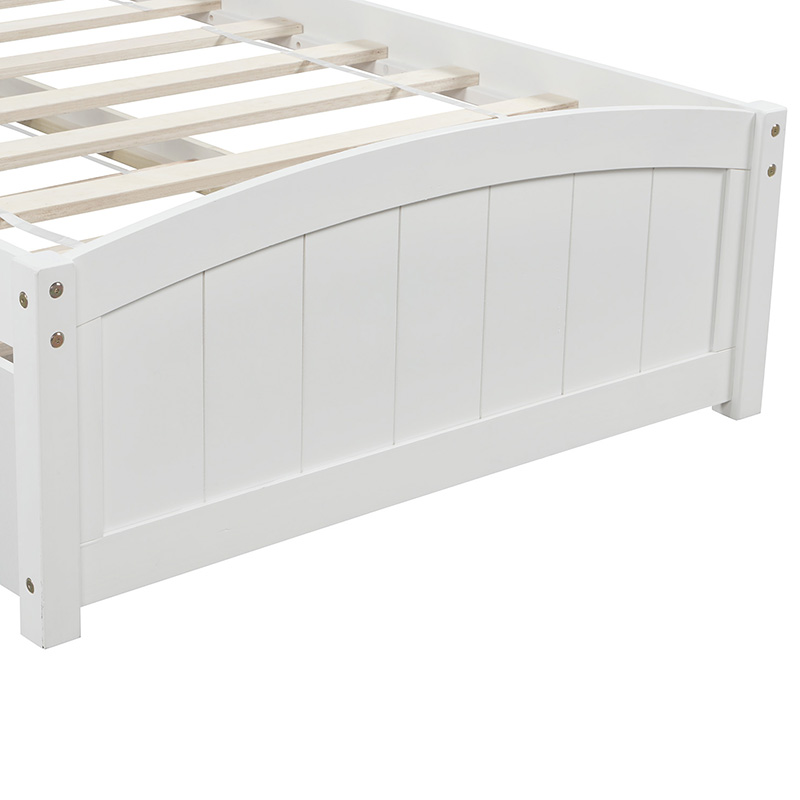 Buyonhome Twin size Platform Bed with Two Drawers White