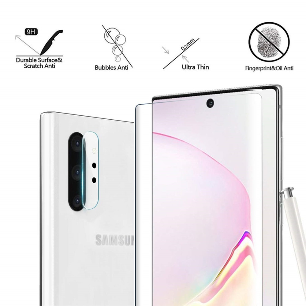 1 Pack Tempered Glass Screen Protector ,  Include 1 Pack Camera Lens Protector  for Samsung Note 10/Note 10+/S10/S10+/S10E/S9/S8