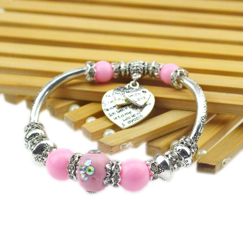 925 Sterling Silver Color Indonesia Beads Bracelet For Women 2015 New Fashion Charm Bracelets Bangles Fine Jewelry