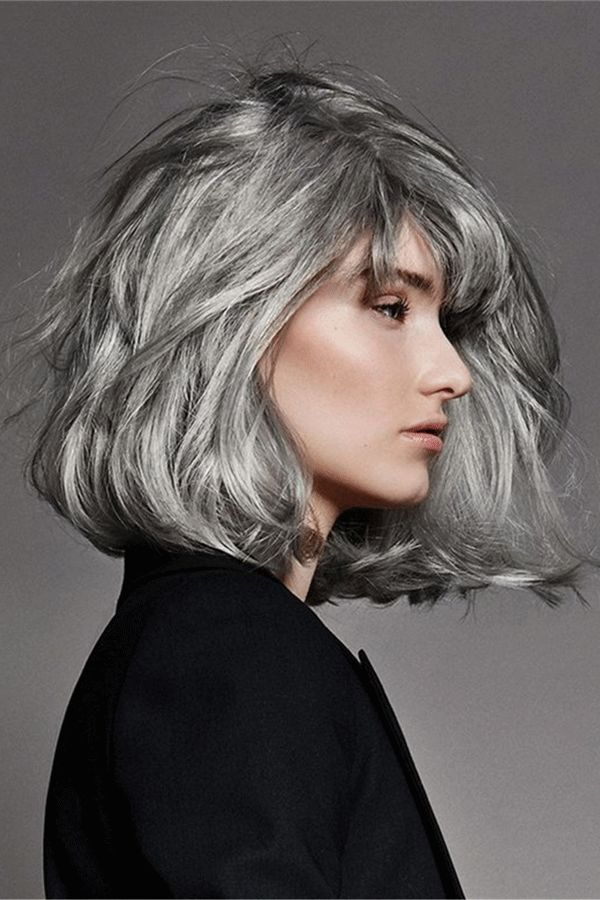 2020 New Gray Hair Wigs For African American Women Lace Front Yuantao Magic Gray Hair Cover 100 Human Hair Lace Front Wigs Post Malone Wig Lace Front Wigs