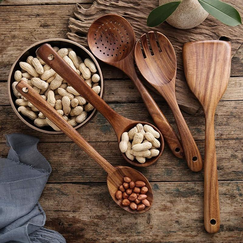 Natural Teak Wood Utensils🌟Black Friday Hot Sales🌟