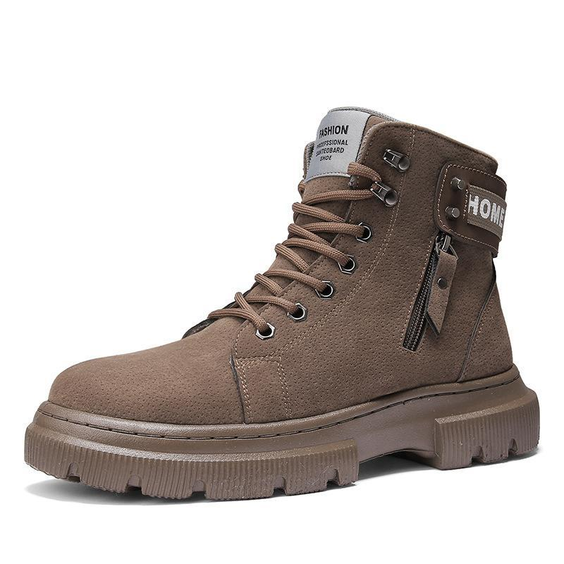 Men's tooling trendy shoes casual short boots