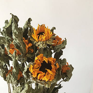 Artificial Flowers 2 Branch Classic Modern Contemporary Sunflowers Tabletop Flower