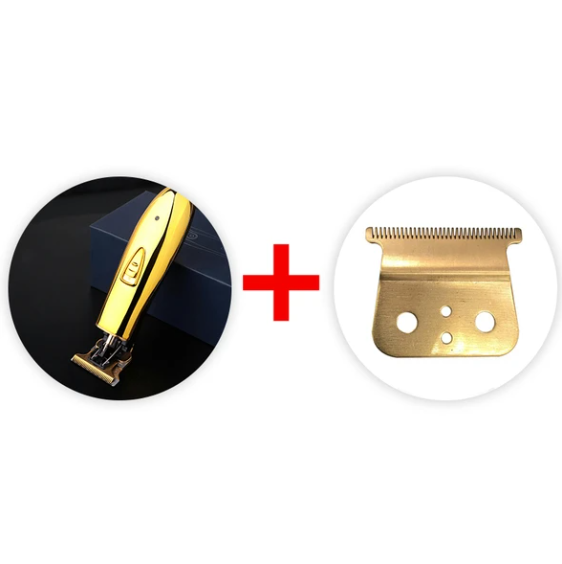 【HOT SALE】Gold Cordless Trimmer Men 0mm Baldheaded Hair Clipper