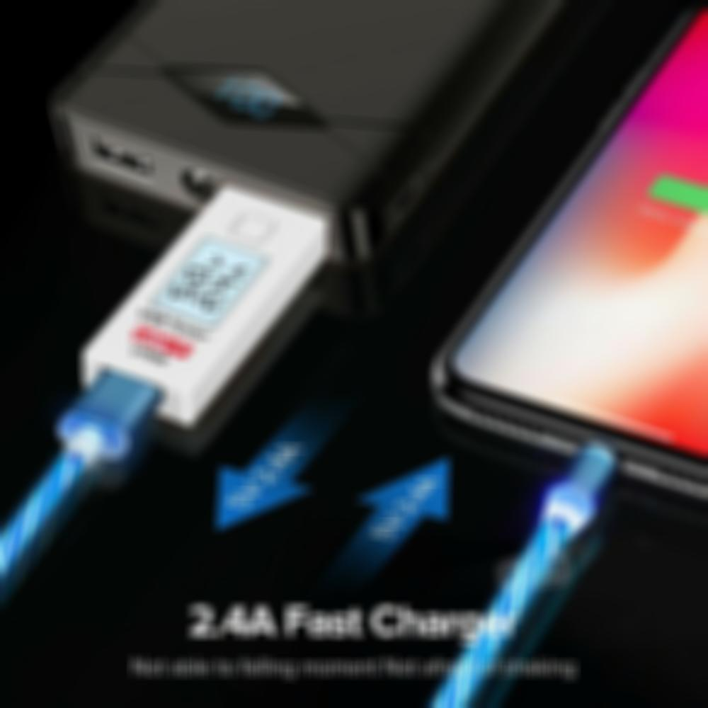 LED Magnetic 3 in 1 USB Charging Cable - Buy 2 Get 1 Free ( CHOOSE 3 PCS )
