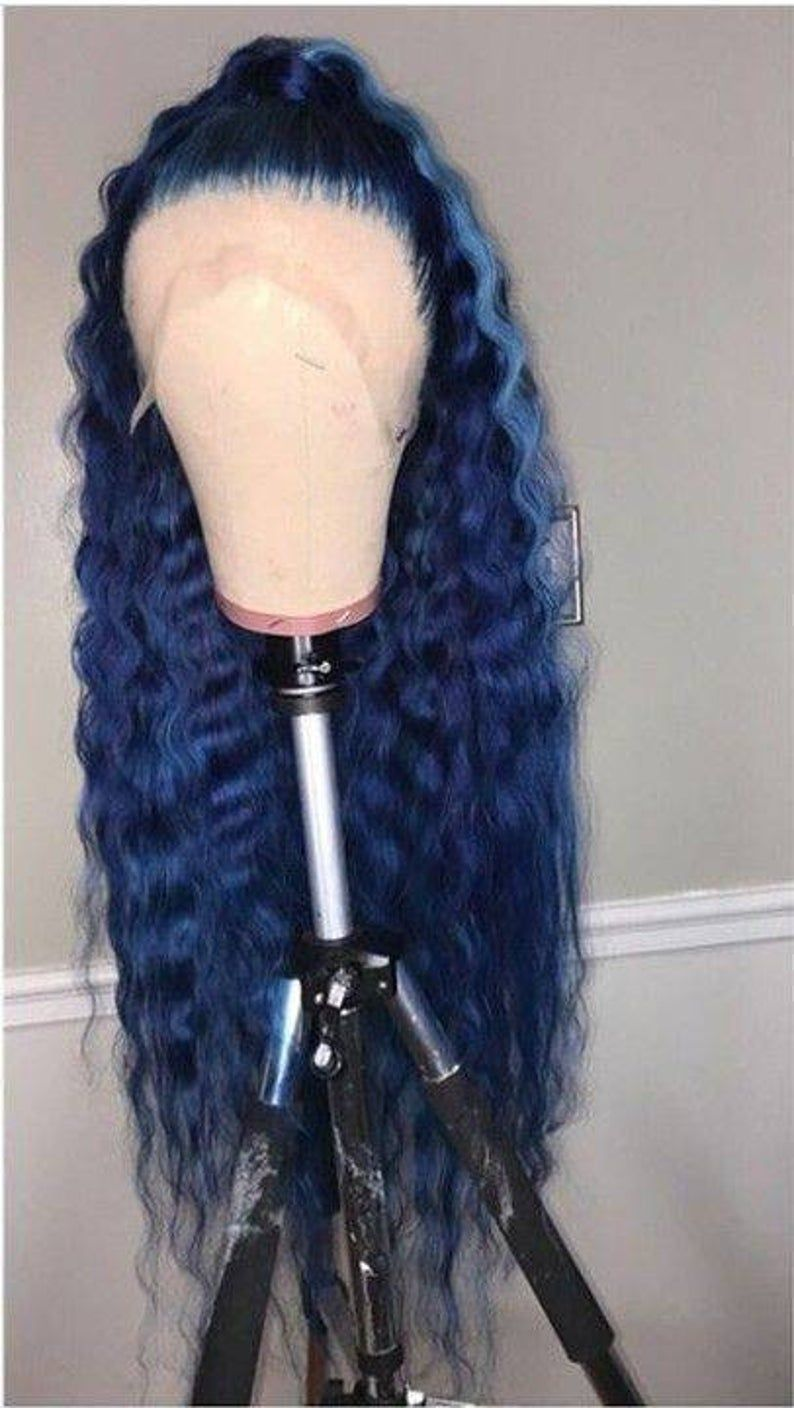 Blue Wigs Lace Frontal Wigs Cheap Human Wigs Pastel Blue Hair Types Of Blue Hair Aqua Blue Lace Front Wig