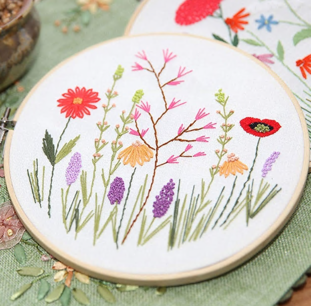 Hand embroidery material package