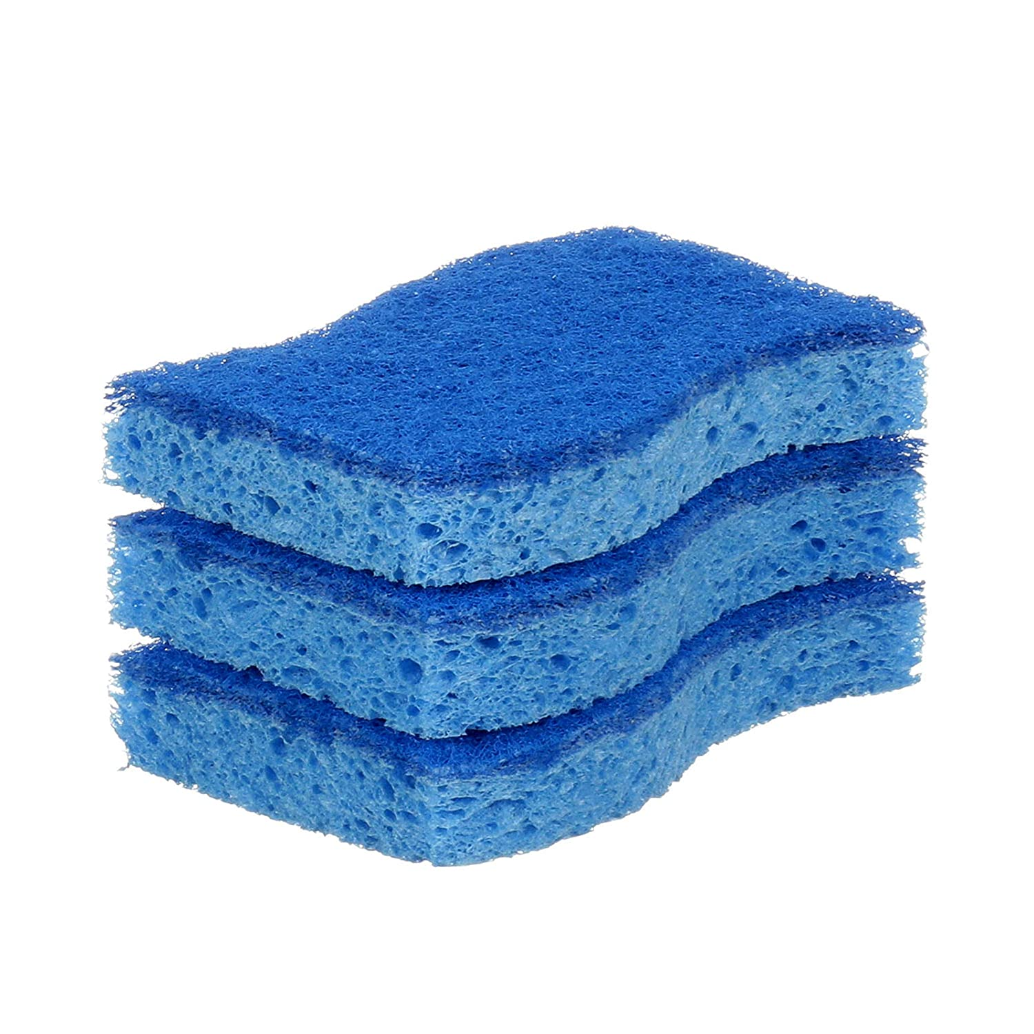 10Pcs Non-Scratch Scrub Sponge, Cleaning Power for Everyday Jobs, Wood Pulp Cotton