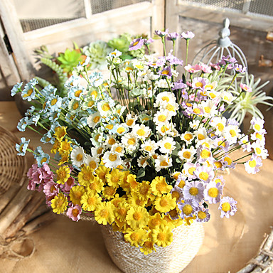 Artificial Flowers 1 Branch Classic Rustic Traditional / Classic Daisies Tabletop Flower